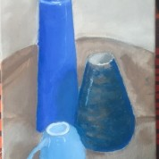 En azul