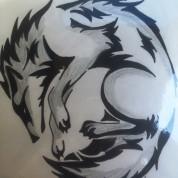 Lobo en blanco y negro